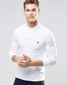 Polo Ralph Lauren long sleeve polo in slim fit at ASOS. Ralph Lauren Long Sleeve, Polo Ralph Lauren, Burton Menswear, Long Sleeve Polo, Online Shopping Clothes, My Outfit, Polo Shirt, Casual, Fit Men