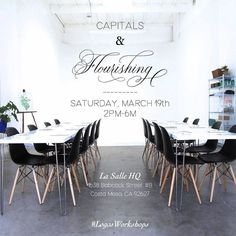 Anyone else looking forward to March?!! SoCal pen meet on the 6th & three more weeks until the launch of my Intermediate Workshop- focusing on Capitals & Flourishing!  If you have basic calligraphy experience and want to continue to refine and enhance your script grab your seat! Only 4 seats left!  This will be a FOUR hour workshop at @monvoirco gorgeous space @lasallehq in Costa Mesa CA! We will be going through some fundamental strokes to master the Capitals as well as basic principles of…