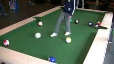 Football cross pool table