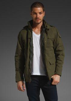 spiewak systems field jacket, dark olive $185
