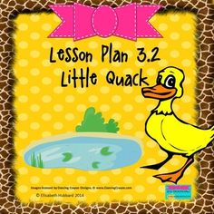 """Reading Street Kindergarten 2013 Lesson Plan """"Little Quack"""" 3.2 with CC standards listed and editable for you to copy and paste into your own lesson plan format.  Only $1.25"""