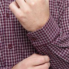 Mens - COTTON CHECK MODERN SHIRT
