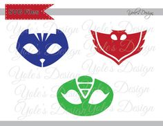INSTANT DOWNLOAD PJ Masks Owlette Catboy Gekko Logo by YoleDesign