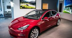 Magnify / Tesla's new Type three automotive on show is noticed on Friday, January on the Tesla retailer in Washington, DC. Tesla in the end became a Car Buying Guide, Car Quotes, Car Buyer, Lead Acid Battery, France, Car Shop, Electric Cars, Electric Vehicle, Paris