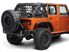 Dirty Dog 4x4 Netting 3pc kit, Rear, Black (07-16 Wrangler JK 4 Door)