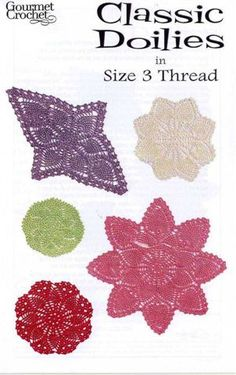 Classic Doilies In Size 3 Thread - Lolly - Picasa Webalbums