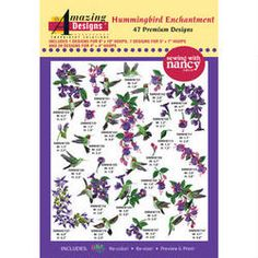 Hummingbird Enchantment Embroidery Designs with FREE Needle Pack @ www.nancysnotions.com
