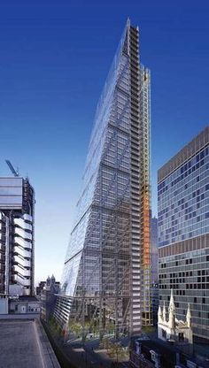 Photomontage of the Leadenhall Building by Richard Rogers Partnership.