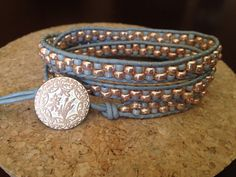 Hey!! Look what I found on Etsy, Rose Gold and Grey leather wrap bracelet by Peaceandhopedesignshttps://www.etsy.com/shop/Peaceandhopedesigns