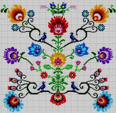 This Pin was discovered by Ayş Cross Stitching, Cross Stitch Embroidery, Embroidery Patterns, Mini Cross Stitch, Cross Stitch Flowers, Cross Stitch Designs, Cross Stitch Patterns, Ribbon Art, Embroidery Techniques