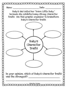 Worksheets Ruby Bridges Worksheets ruby bridges biography and fun activities school pinterest character traits activity teacherspayteachers com