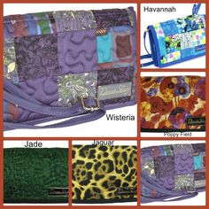 "Donna Sharp Large Wallets-Size: 8x5x1. Strap Drop 14-27"" -Tri-fold snap-closure -Exterior full-width zippered-pocket -Checkbook holder http://www.linenorders.com/doshlawa.html #donnasharpdeals #donnasharpsales #giftsforher"