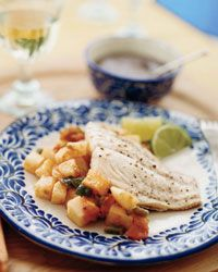 Grouper with Jicama and Black Bean Sauce // More Easy Fish Recipes: http://fandw.me/AL5 #foodandwine