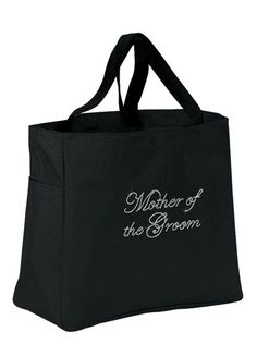 Rhinestone Mother of the Groom Tote Bag - Black