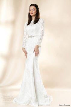 http://weddinginspirasi.com/2014/01/30/alice-design-2014-wedding-dresses-vintage-love-bridal-collection/ alice design #wedding dresses 2014 matilda long sleeve lace gown #weddings #weddingdress