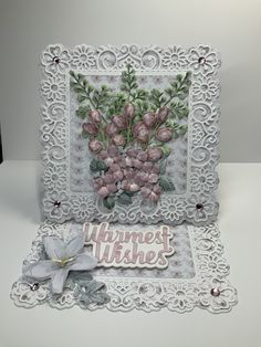Made with Tattered Lace Oasis floral garden and Paper Boutique springtime blooms Just because . Created and uploaded by Linzi Atherton 🤗 Tattered Lace Cards, Arts And Crafts, Paper Crafts, Easel Cards, Heartfelt Creations, Carnations, Flower Making, Birthday Wishes, I Card