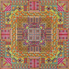 Eugene Andolsek - The intensely colourful and intricate works were created by Andolsek starting in the 1950's as a calming pastime.