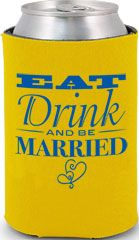 Wedding Koozies, Custom Imprinted Personalized Can Coolers