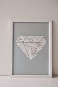 Grafisk diamant DIY (via Bloglovin.com )