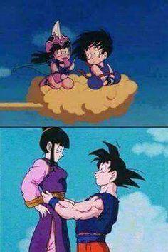 Chi chi and Goku