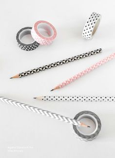 Washi Taped Pencils