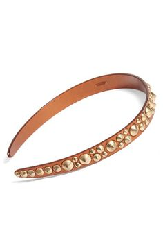 Women's L. Erickson 'Viking' Studded Headband - Metallic