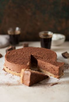 no bake chocolate espresso cheesecake