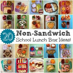 Keeley McGuire: Lunch Made Easy: 20 Non-Sandwich School Lunch Ideas for Kids! I doubt some kids would half of those items, but good ideas non the less.. worth a try.