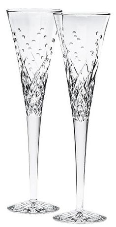 Waterford Happy Celebrations Crystal Flute Glass (Set of 2) | Free Shipping