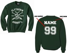 Customize - New Slytherin CHASER Quidditch Team Unisex Crewneck Sweatshirt