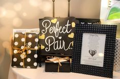 Black, White, Pink & Gold Bridal/Wedding Shower Party Ideas | Photo 61 of 64 | Catch My Party