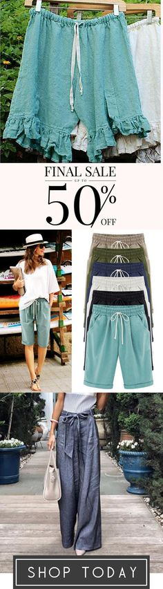 Summer Shorts Lace Up Elastic Waistband Loose Panties Pretty Outfits, Beautiful Outfits, Cool Outfits, Summer Outfits, Summer Shorts, Winter Outfits, Trendy Dresses, Fashion Dresses, Spring Summer Fashion