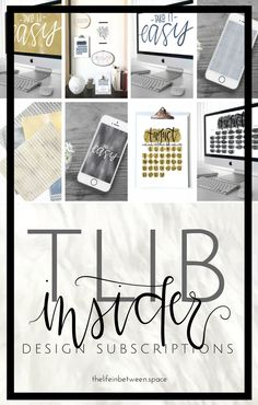 TLIBInsider Design Subscriptions –August 2017 You Must, Love You, My Website, Choose Love, Design Shop, Life Organization, Your Life, Group, I Love You