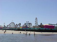 Santa Cruz, CA : A view of the Santa Cruz Boardwalk from the beach. A recurring Glister Journals location.