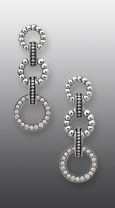Diamond drop earrings from the LAGOS Jewelry Enso collection. #strongstyle Available at Johnson's Jewelers Olde Raleigh!