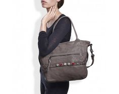 Noosa Amsterdam Grey Classic Shopper with chunks