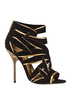 #SergioRossi #black n $golden