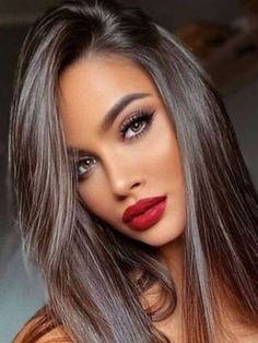 Rubin Rose, Beauty Makeup, Hair Beauty, Beautiful Lips, Brunette Beauty, Woman Face, Dark Hair, Beauty Women, Makeup Looks