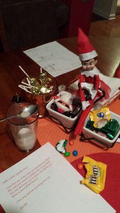 Elf on Shelf- midnight candy raid...