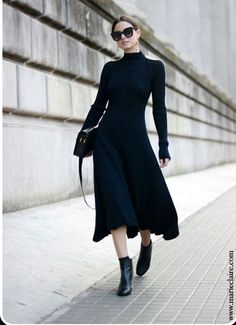 When you want to wear a dress with no tights, a long sleeve dress is your answer!