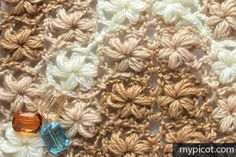 MyPicot   Free crochet patterns Stitch pattern for triangle shawl