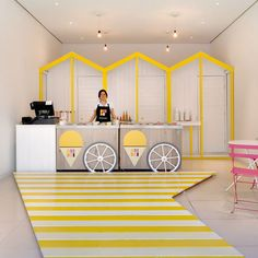 Inviting Ice Cream Shop Interior Design » Decodir