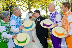Wedding guest appearance by the Dapper Dans. I would love this if I had a Disney wedding. So unique!