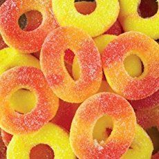Trolli Gummi Peach Rings from the World's Largest Online Candy Store! I used to go to the corner store when i was kid and they had these for a penny a piece. Candy Recipes, Gourmet Recipes, Healthy Recipes, Healthy Breakfast For Kids, Healthy Breakfasts, Breakfast Ideas, Candy Kabobs, Peach Party, Online Candy Store