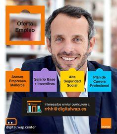 📢¿Buscas #empleo? 💼 Únete a nuestro Dpto. de #FuerzaDeVentas en #Mallorca Envíanos tu currículum a: rrhh@digitalwap.es Murcia, Smart Tv, Socialism, Majorca