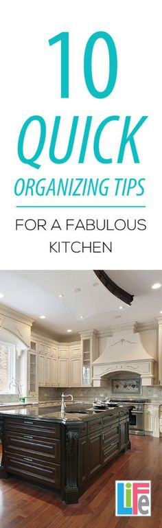 These tips are quick yet effective!  Take a minute to read and get a cleaner kitchen using these simple tricks! This organizing blog is great!