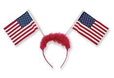 f79fbae7f86 Headband Patriot Pride American Flag Bobble Headband Headbands For Short  Hair