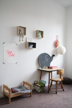 I love the chalkboard there - animal shape - just the right size - I see Appa  in that . . .Babiekins Magazine| Sleepykins// Dide's Room