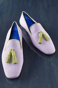 Hadleigh's Bespoke Lifestyle - Lavender Linen with Kiwi Green Tassel. I love!!
