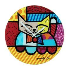Relógio de Parede Cat que traz pintura de Romero Britto, um item alegre e criativo para compor a decoração da sua casa. Em breve na nossa loja virtual.
